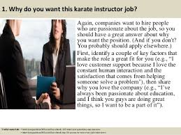 3 1 why do you want this karate instructor job martial arts instructor jobs