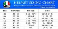 Agv Helmet Size Chart Agv K3 Helmet 2x Large Flat Black Amazon In Car Motorbike