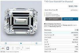 Emerald Cut Diamond Price Chart The Ultimate Guide To Buying A 7 Carat Diamond Ring With