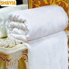 chinese silk comforter. Fine Comforter SMAVIA High Quality Chinese Silk Quilt 100Silk Handmade Comforter Soft  Cotton Fabric Cover Blanket Throughout N