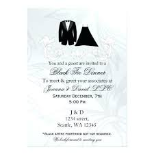 Black Tie Dinner Invitation Black Tie Event Invitations Black Tie