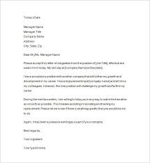 Letter Of Resignation 2 Weeks Notice Template New 28 Two Weeks Notice Letter Templates PDF DOC Free Premium