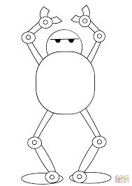 Dansende Robot Kleurplaat Gratis Kleurplaten Printen