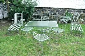 retro metal lawn chairs vintage patio furniture outdoor old fashioned made in usa