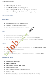 Sample Job Cover Letters Job Application Letter