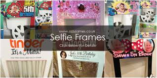 personalised selfie frames party printing photo booth props