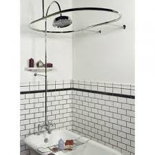 clawfoot tub shower curtain dimensions ideas rod of