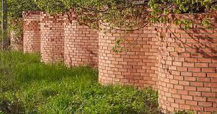 curved serpentine brick walls pair