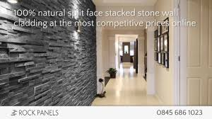 Rock Panels - Stacked Stone Wall Cladding - Split Face Stone Tiles ...