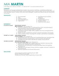 Sample Resumes For Administrative Assistant Thrifdecorblog Com