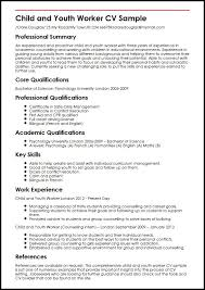 Good Looking Cv Child And Youth Worker Cv Sample Myperfectcv