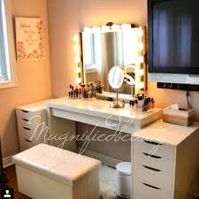small dressing table with lighted mirror clever mirrored vanity