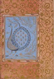 the art of the ott s after essay heilbrunn timeline of calligraphic composition in the shape of a peacock folio from the bellini album