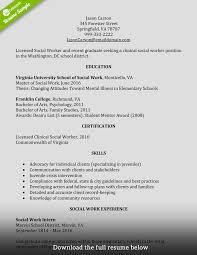 Download Resume For Social Worker Haadyaooverbayresort Com