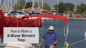 how to make a 2 bow bimini top