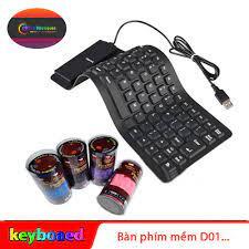 Bàn phím mềm Silicon Flexible Keyboard D01 - Chống bụi bẩn và ẩm ướt - Đầu  cắm USB chuyên dụng cho máy tính và Laptop...