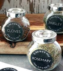 spice jars glass labels for libbey vibe