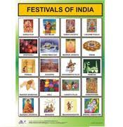 Photo Chart Of Indian Festivals Charts For Kids In India Children Charts In India