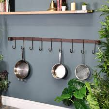 9 hook blacksmith wall mounted saucepan