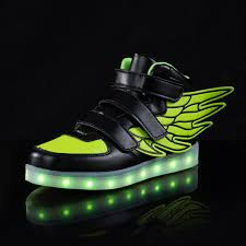 Tennis Shoes That Light Up At The Bottom Saguaro High Top Led Boots Shoes With Wings Boy Girls Light