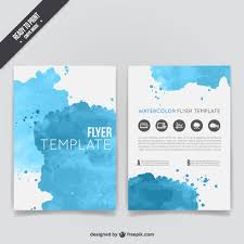 Free Flyers Backgrounds Watercolor Flyer Template Vector Free Download