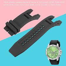 2 strap rubber black watch band for invicta subaqua noma iv 4 6582 0519 1153