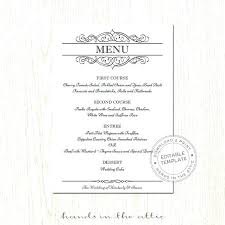 Wedding Menu Card Template Fancy Strand Definition Biology