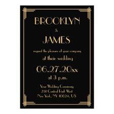 gatsby wedding invitations. black great gatsby art deco wedding invitations g