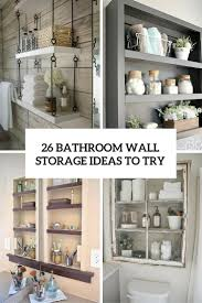 wall storage ideas for office. 26 Simple Bathroom Wall Storage Ideas Shelterness With Regard To Size 735 X 1102 For Office I