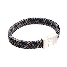 men s braided leather bracelet