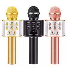 WS 858 Karaoke mikrofon kablosuz bluetooth hoparlör Instagram gibi iPhone  Android PC akıllı telefon taşınabilir el mikrofonu|Microphones