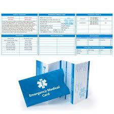 Personal Info Cards 4 Pk Emergency Medical Alert Id Cards Allows For Personal Etsy