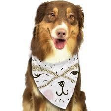 Designer Dog Clothes And Accessories Amazon Com Dealbert Dog Bandanas Triangle Bibs Scarfs