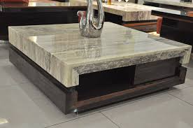 ... Modern Marble Coffee Table In Nice Living Room ...