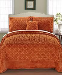 burnt orange bed sheets