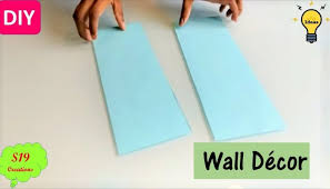 easy wall decor ideas with paper diy wall decor paper craft ideas for room