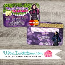 Credit Card Party Invitations Printable Descendants Party Invitations Download Them Or Print