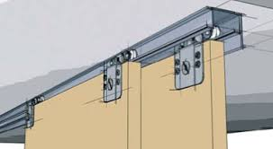 Stacking door are often used as room dividers and for hide away walls. Ball  bearing rollers offer smooth rolling and Smart rollers sort the doors for