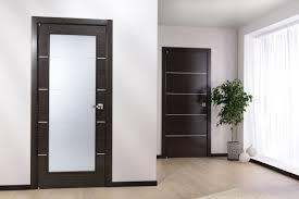 Bathroom Interior Door Modern Home Luxury Avanti Vetro Modern Interior Door Black