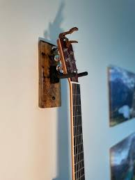 whiskey barrel stave guitar wall mount