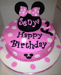 1st Birthday Minnie Mouse Cake