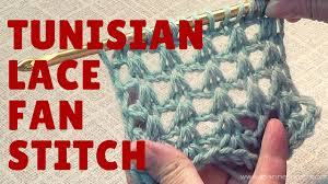 Youtube Crochet Patterns Custom Tunisian Lace Fan Stitch Free Crochet Pattern YouTube