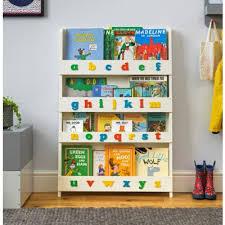 children s bookcase ivory colour alphabet