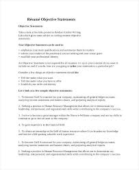 Sample Objective Statement For Resume Here Are Objective Sentences