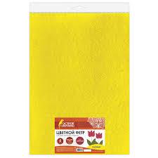 Купить <b>Цветной фетр</b> для творчества, 400х600 мм, <b>BRAUBERG</b> ...