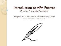 american phsycological association introduction to apa format american psychological association