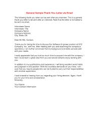 Thank You Letter After Interview Business Examples Follow Email