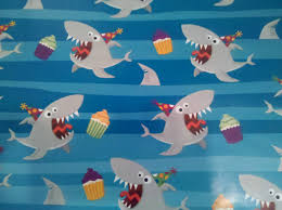 sharks and cupcake wrapping paper how can u not love it shark  oceanography xander the shark paper bust nursery works