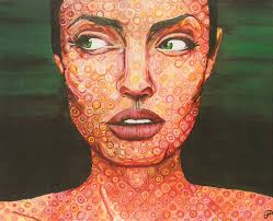 angelina in chuck close style by no he aprendido