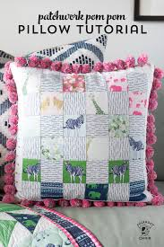 Pillow Patterns Stunning Pom Pom Patchwork Pillow Pattern The Polka Dot Chair